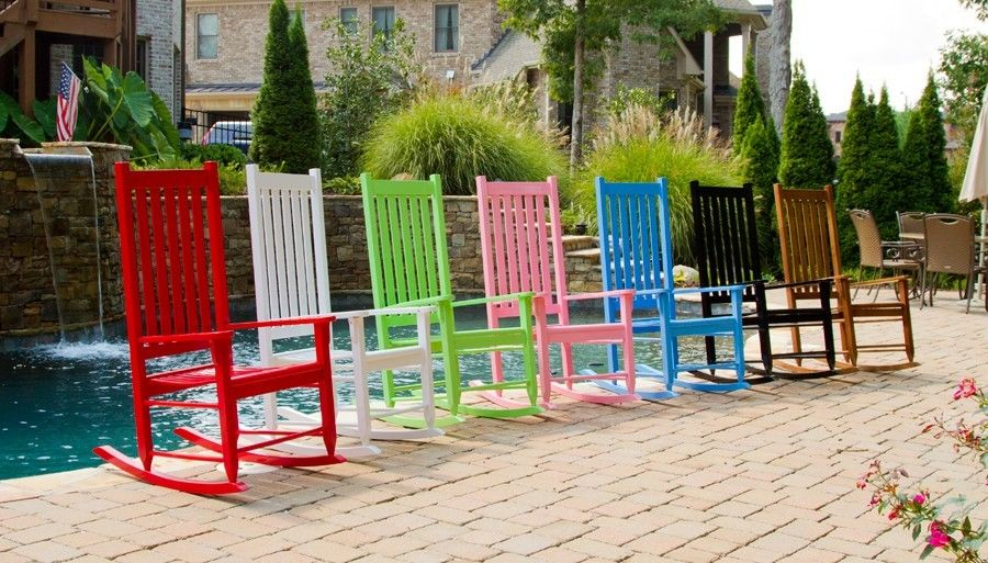 #187 - Traditional Style Outdoor or Indoor Wooden Rocking Chair with Your Color Choice