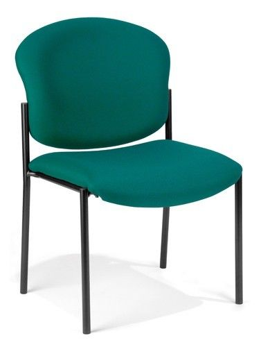 105 - Teal Fabric Stack Office Side Chair, Waiting Room Chair, Guest Seating Chair