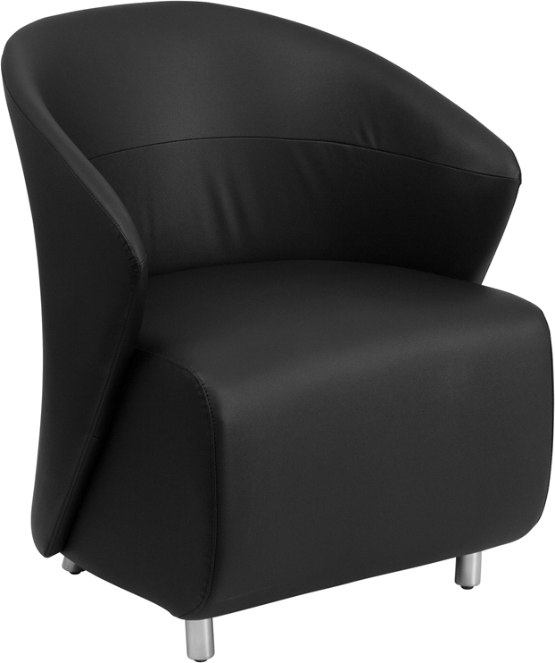 #8 - BLACK LEATHER RECEPTION CHAIR