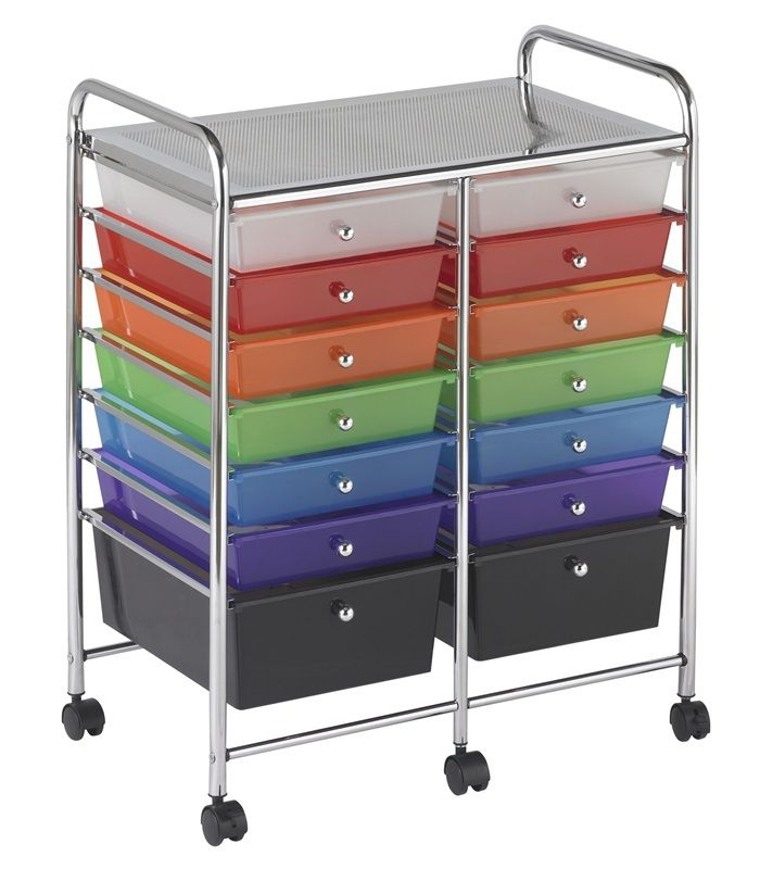 #58 - 14 Drawer Mobile Organizer in Rainbow