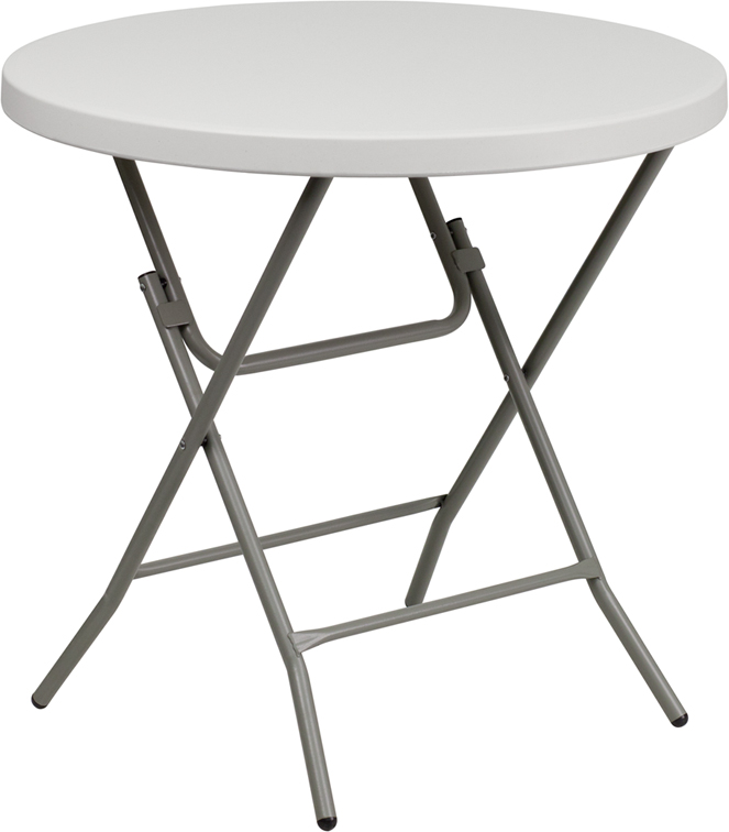 "#3 - 32"" ROUND STANDARD HEIGHT PLASTIC FOLDING TABLE"