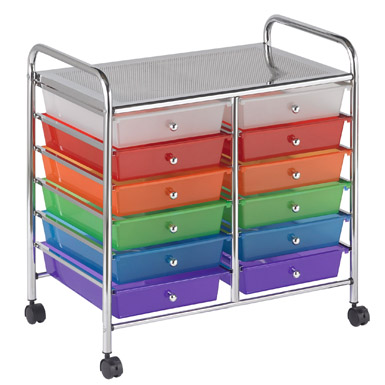 #8 - 12 Drawer Rainbow Mobile Organizer