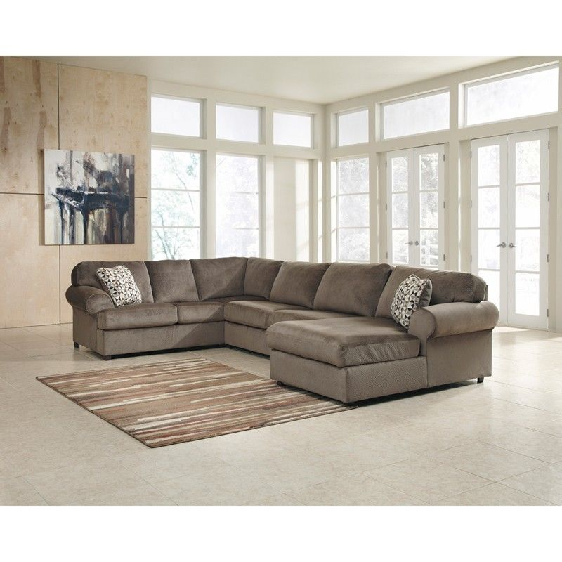 #29 - Signature Design by Ashley Jessa Place Sectional in Dune Fabric