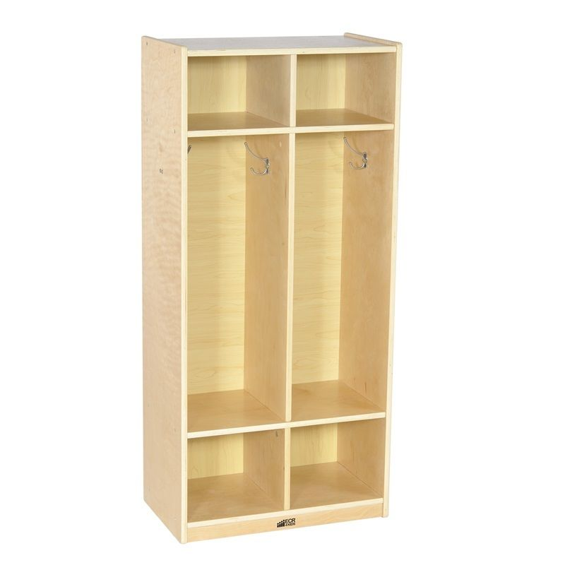 #5 - 2-Section Birch Straight Coat Locker