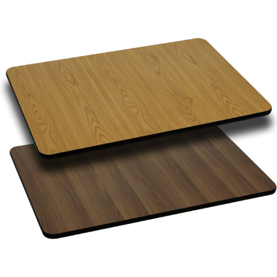 #24 - 24'' X 42'' RECTANGULAR TABLE TOP WITH NATURAL OR WALNUT REVERSIBLE LAMINATE TOP