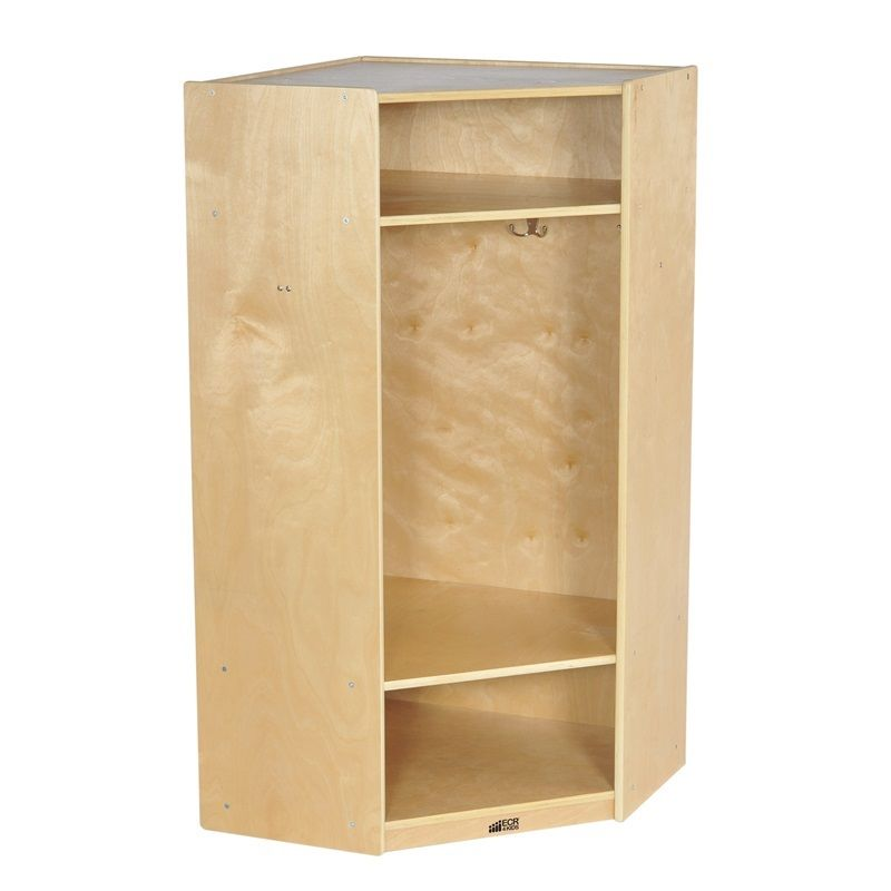 #7 - Corner Section Birch Straight Coat Locker
