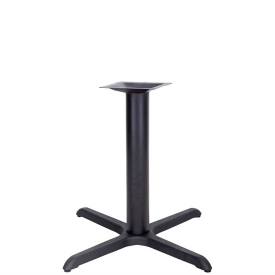 #12 - 33'' X 33'' RESTAURANT TABLE X-BASE WITH 4'' DIA. TABLE HEIGHT COLUMN