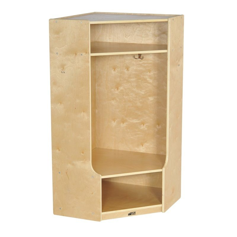 #8 - Corner Section Birch Coat Locker with Bench
