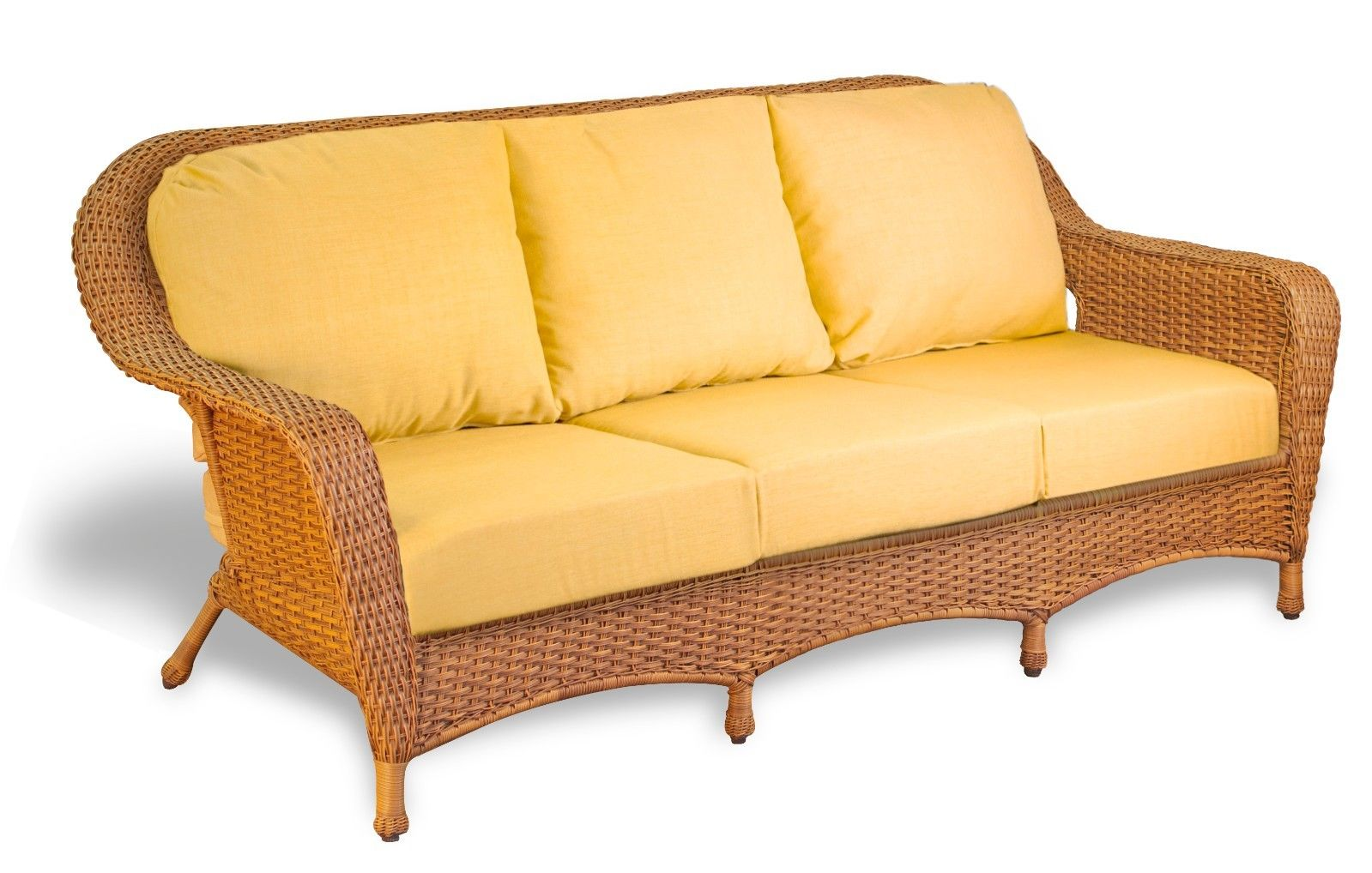 #56 - Outdoor Patio Garden Furniture Mojave Resin Wicker Sofa - Rave Yellow