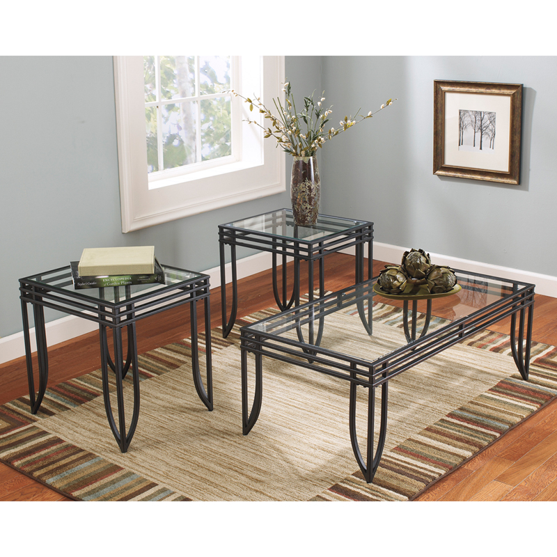 #5 - SIGNATURE DESIGN BY ASHLEY EXETER 3 PIECE OCCASIONAL TABLE SET