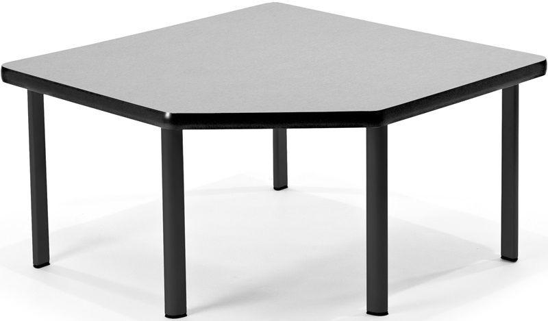 #40 - Corner Table with Five Black Legs in Gray Nebula Laminate