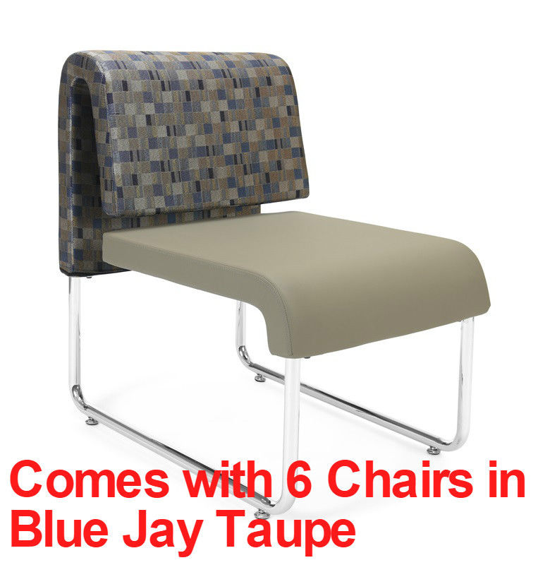#43 - (9 PCS)UNO Series Lounge Package w/Blue Jay Taupe Chairs & Painted Screen Tables