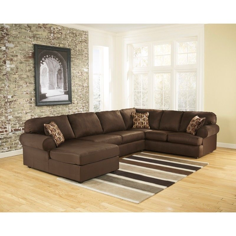 #31 - Signature Design by Ashley Cowan Sectional in Cafe Fabric -Living Room Sectional