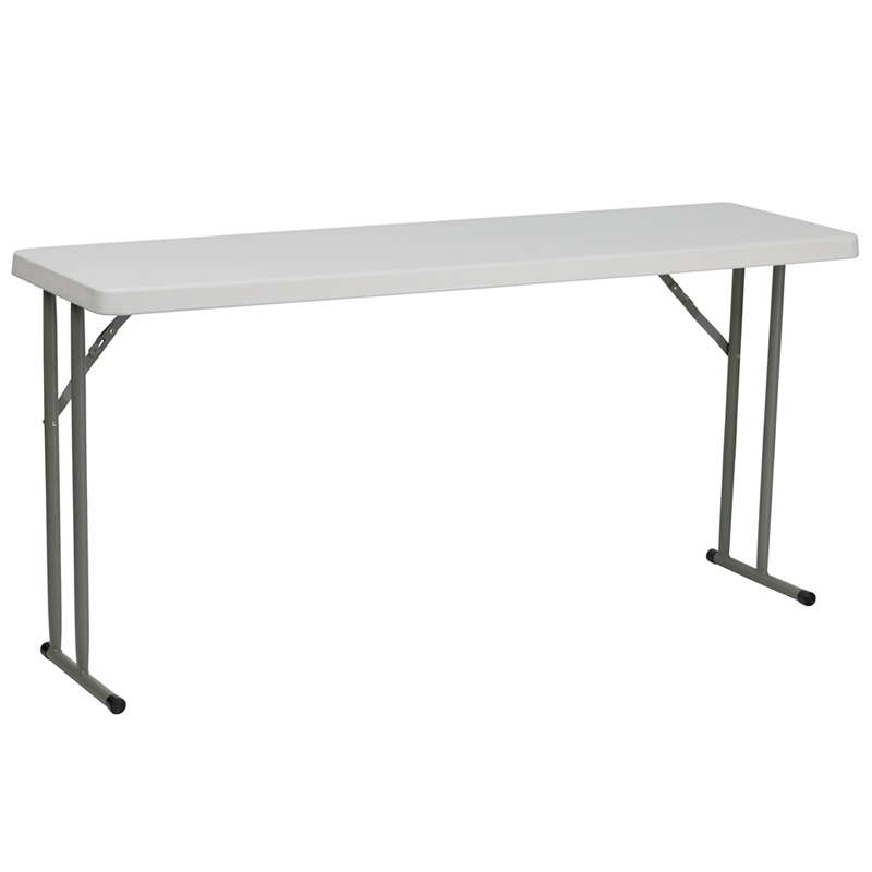 "#5 - 18"" X 60"" PLASTIC FOLDING TABLE"