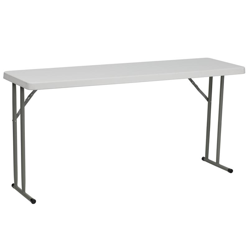 "#5 - 18"" X 60"" PLASTIC FOLDING TABLE"