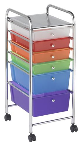 #61 - 6 Drawer Mobile Organizer in Rainbow
