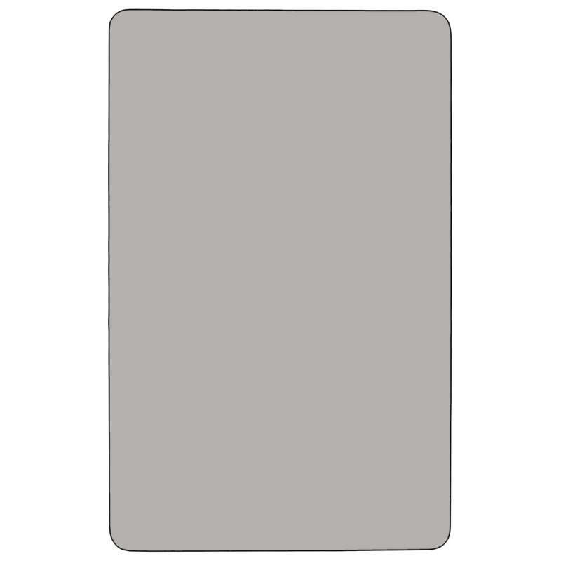 #62 - Mobile 36''W x 72''L Rectangular Activity Table with 1.25'' Thick High Pressure Grey Laminate Top and Standard Height Adjustable Legs