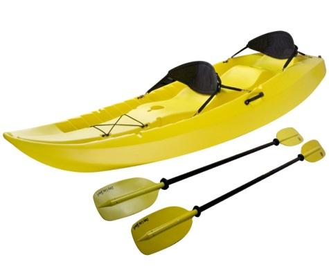 #4 - 10 FT Sit-on-Top Tandem Kayak in Yellow