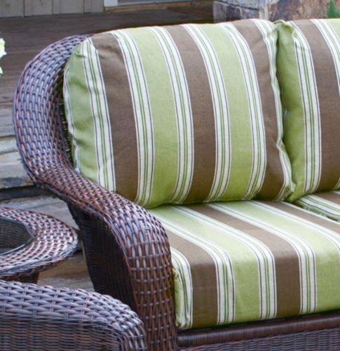#62 - Outdoor Patio Garden Furniture Java Resin Wicker Sofa - Landry