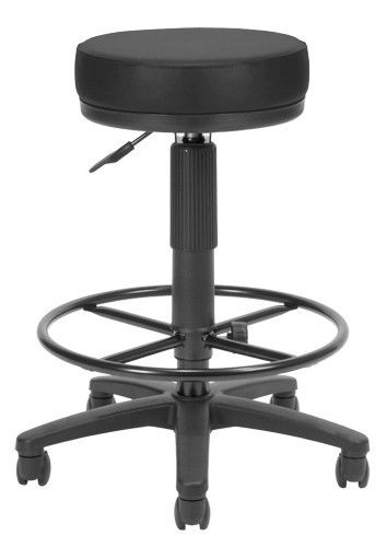 #59 - Anti-Microbial Anti-Bacterial Black Vinyl Medical Stool with Drafting Kit