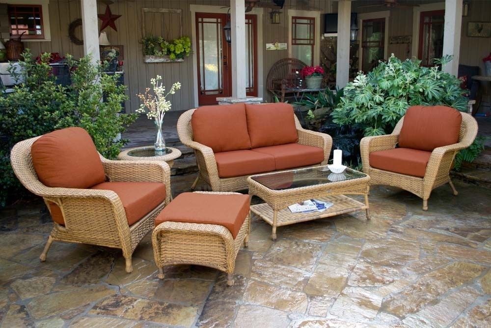 #104 - 6 Piece Outdoor Patio Furniture Mojave Resin Wicker Deep Seating Love Seat Set