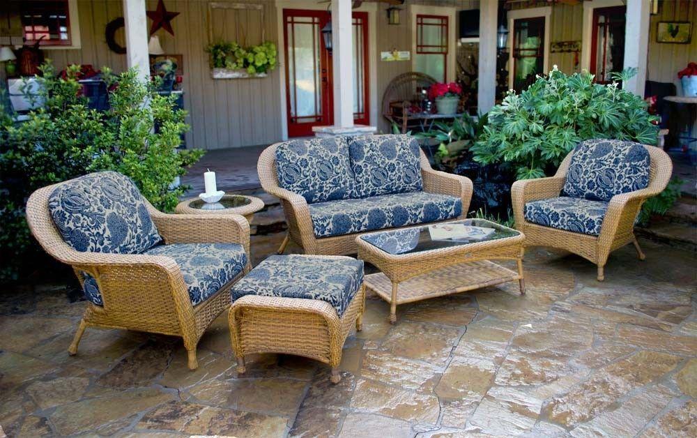 #105 - 6 Piece Outdoor Patio Furniture Mojave Resin Wicker Deep Seating Love Seat Set