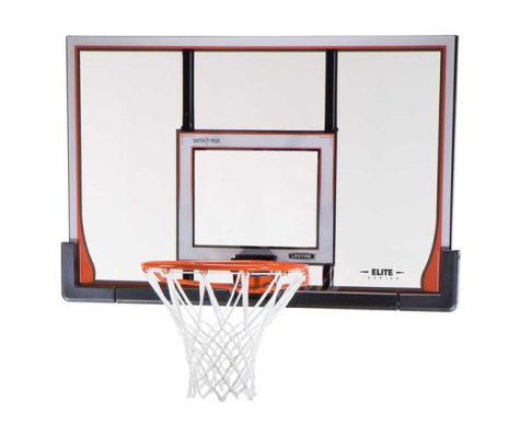 #5 - Lifetime 48 IN. Elite Steel-Framed Shatterproof Basketball Backboard, Orange Elite Rim Combo
