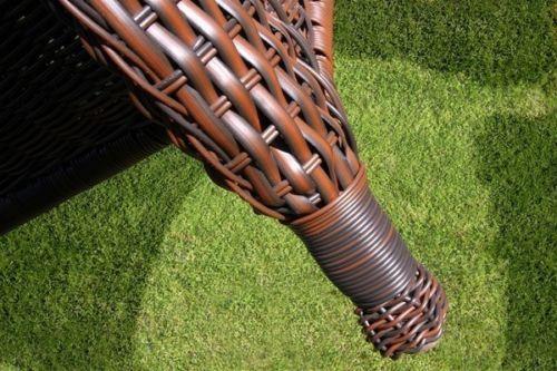 #107 - 6 Piece Outdoor Patio Furniture Java Resin Wicker Deep Seating Love Seat Set