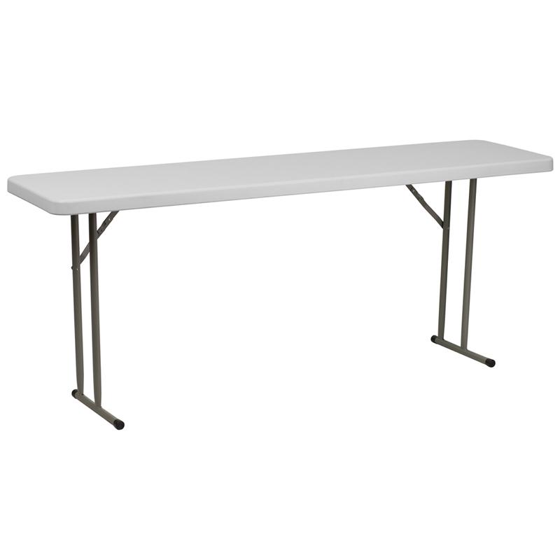 "#6 - 18"" X 72"" PLASTIC FOLDING TABLES"