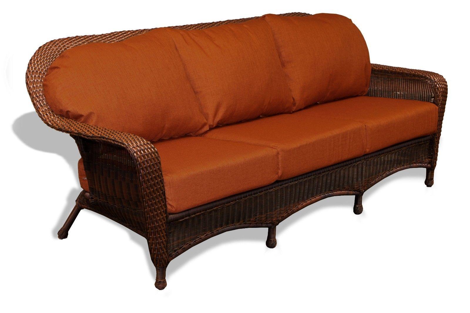 #66 - Outdoor Patio Garden Furniture Java Resin Wicker Sofa - Rave Brick