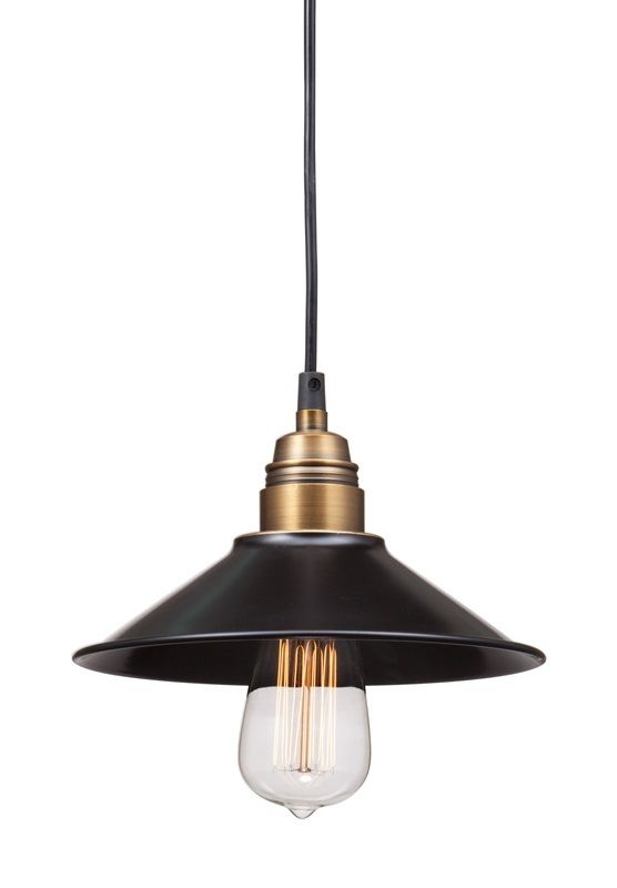 #66 - Exquisite Ceiling Lamp in Antique Black Gold & Brass w/40 Watt Bulb - Home Decor