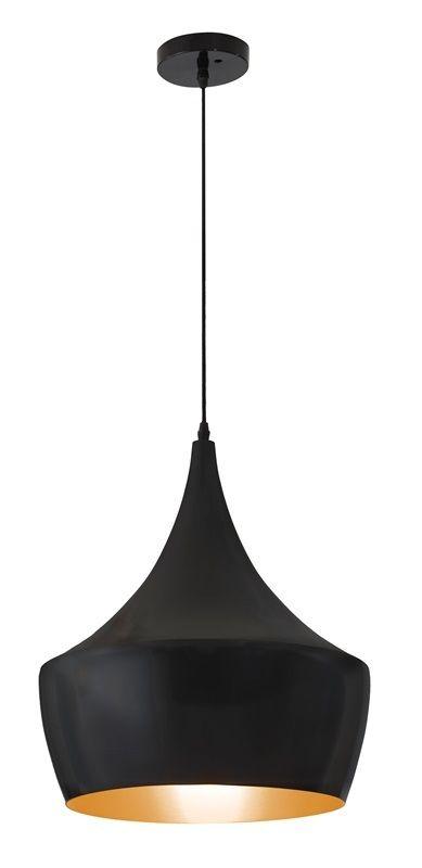 #67 - Stylish Sleek Curve Copper Bronze Ceiling Lamp in Matte Black - Modern Decor