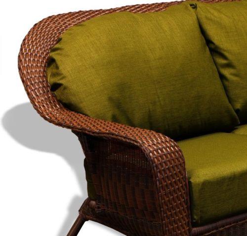 #67 - Outdoor Patio Garden Furniture Java Resin Wicker Sofa - Rave Pine