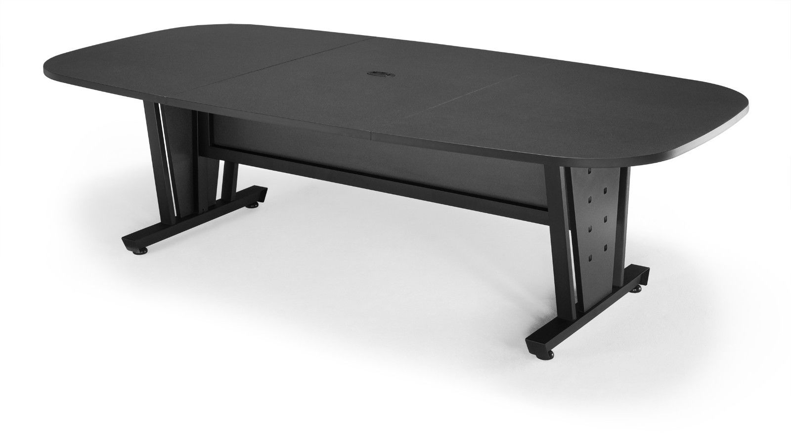 #10 - Conference Table Steel Frame Black Finish Thermofused Laminate Tabletop 47.25'' x 93.50