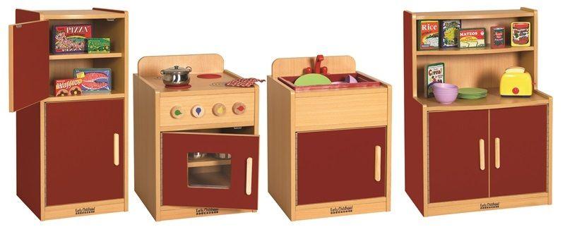 #29 - 4 Pc Kitchen Set in Red