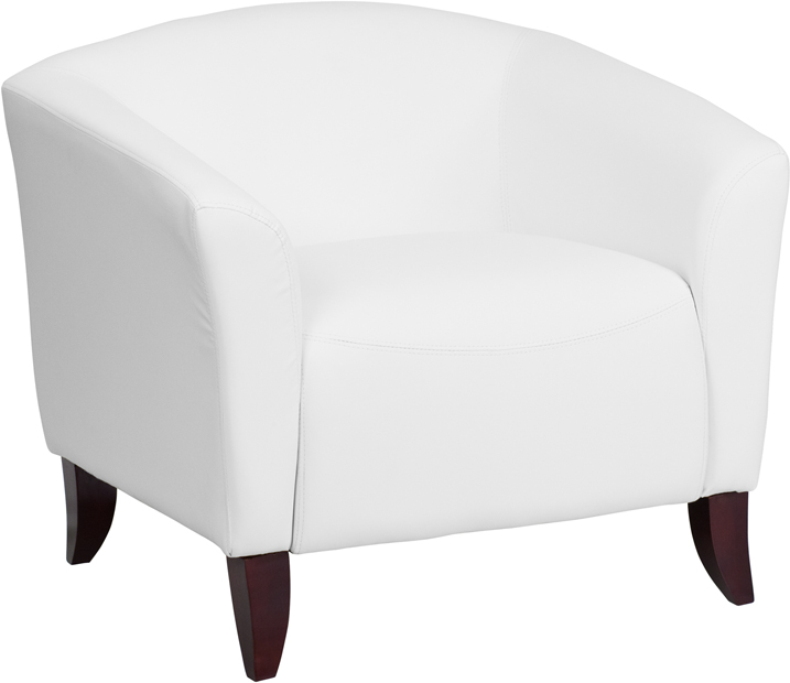 #80 - IMPERIAL SERIES WHITE LEATHER CHAIR