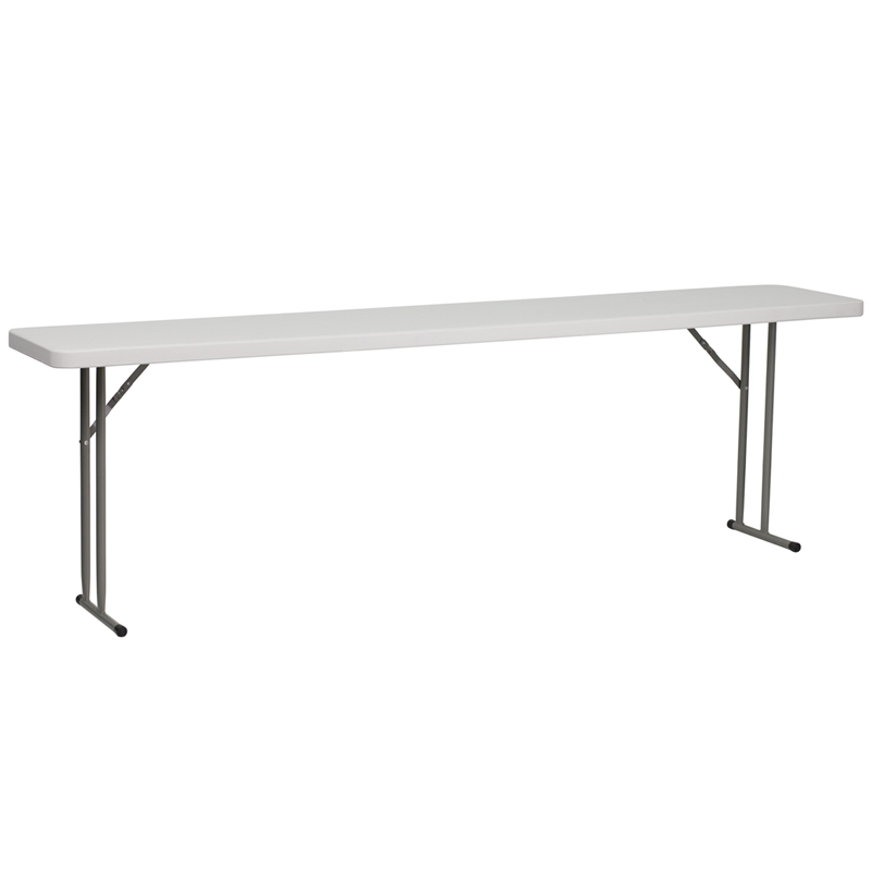 "#7 - 18"" X 96"" PLASTIC FOLDING TABLE"