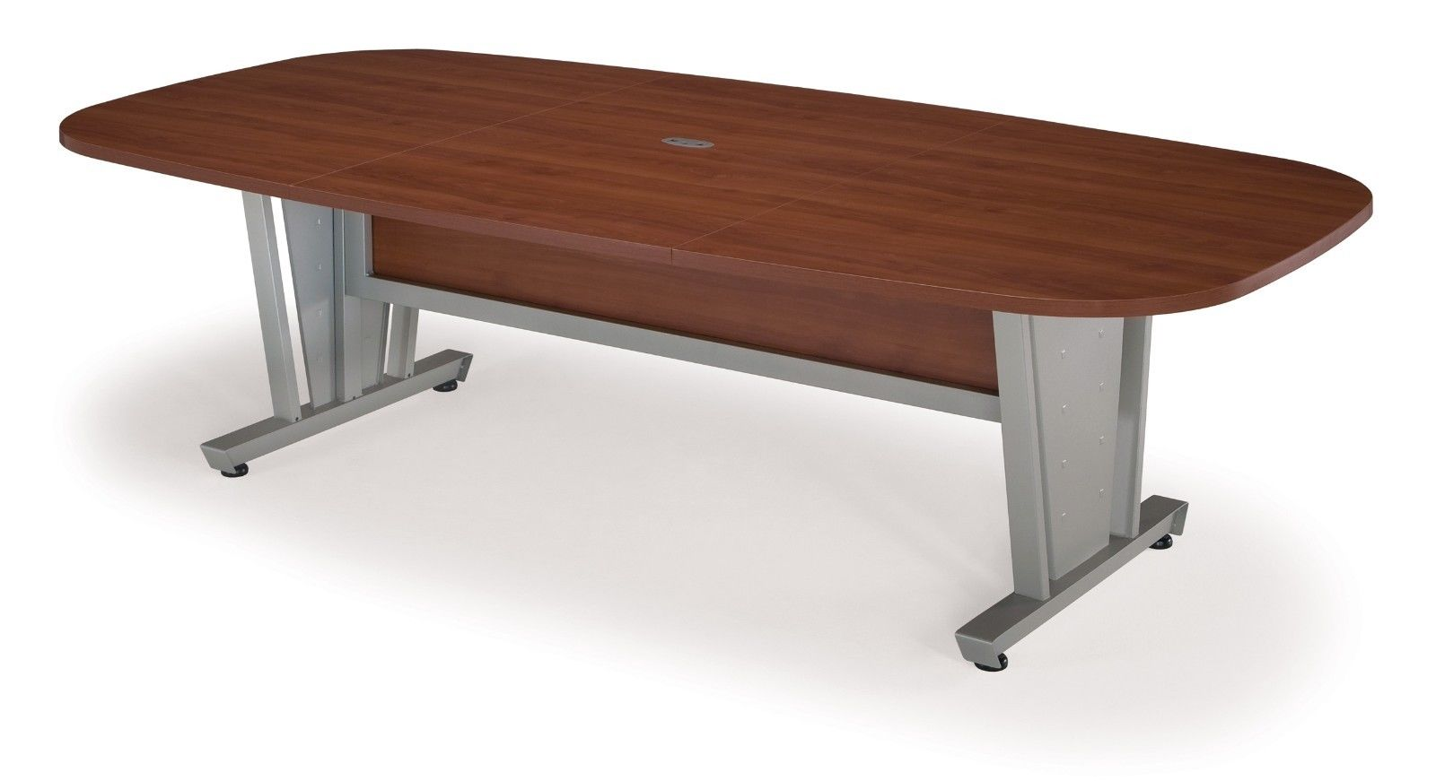 #11 - Conference Table Steel Frame Cherry Finish Thermofused Laminate Tabletop 47.25'' x 93.5