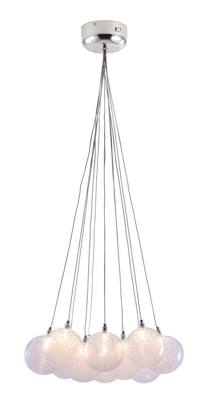 #81 - Stylish Cosmic Elegance Ceiling Lamp w/Twelve Pearlescent Orb Balls - Home Decor