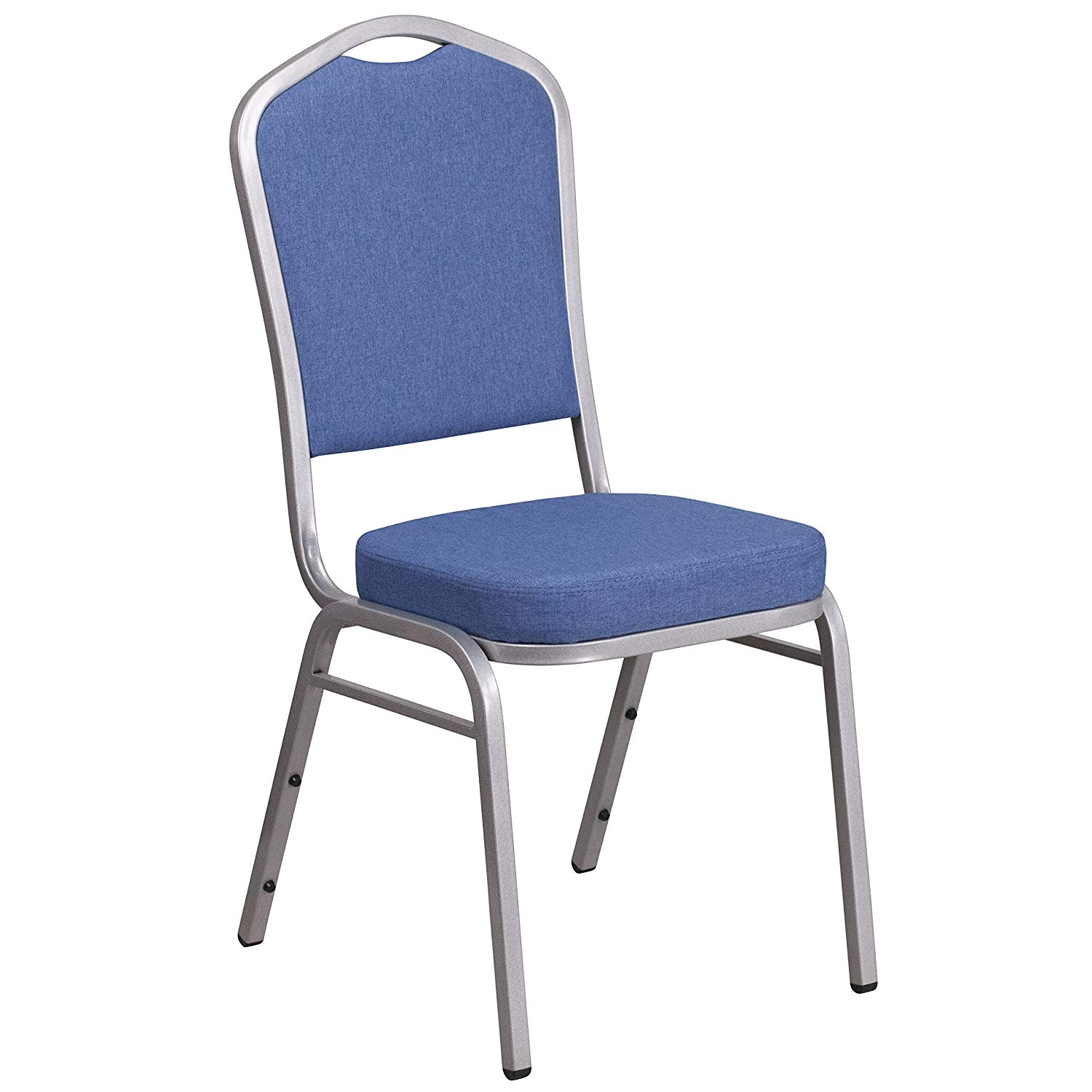 #44 - CROWN BACK BANQUET CHAIR WITH BLUE FABRIC