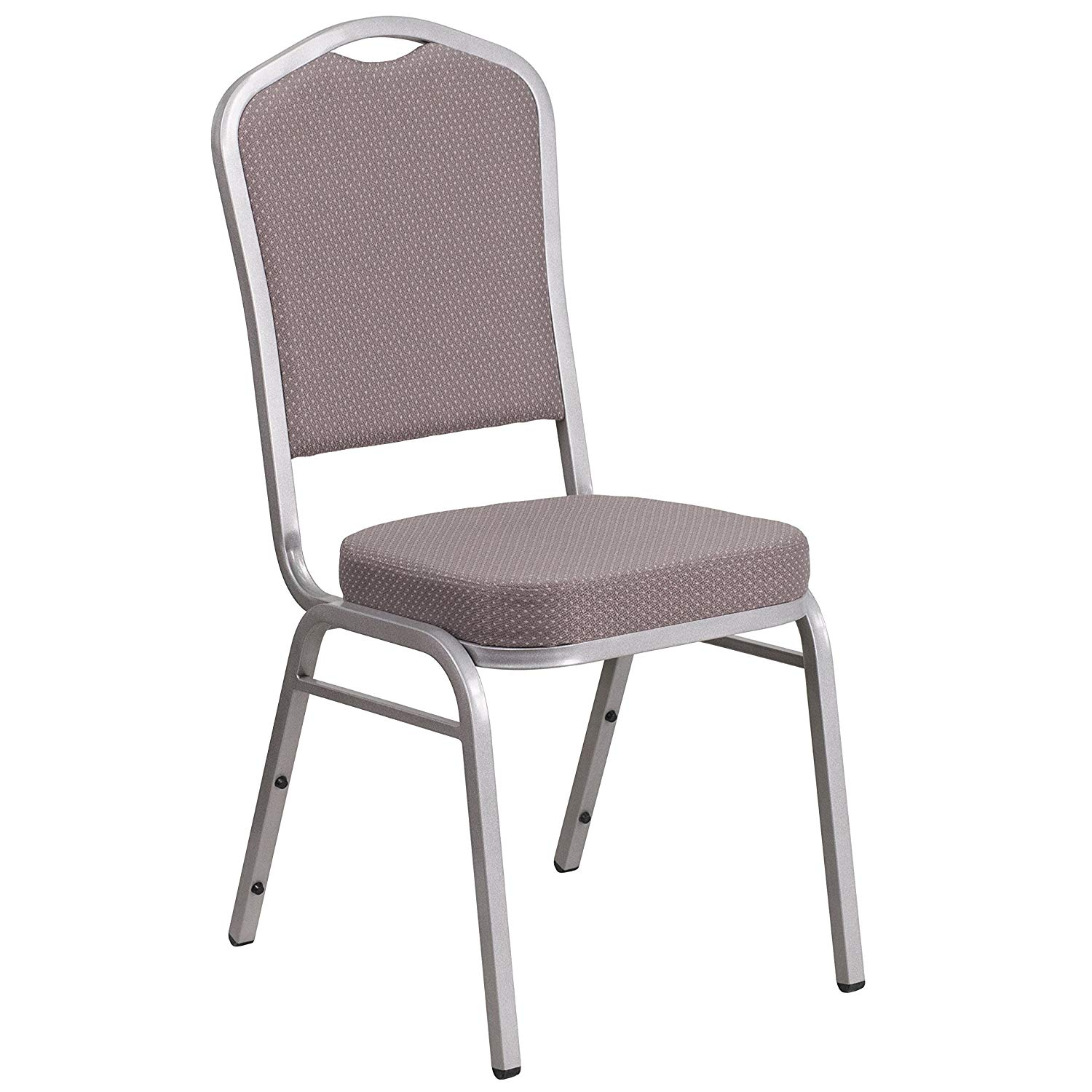 #43 - CROWN BACK BANQUET CHAIR WITH GRAY DOT FABRIC