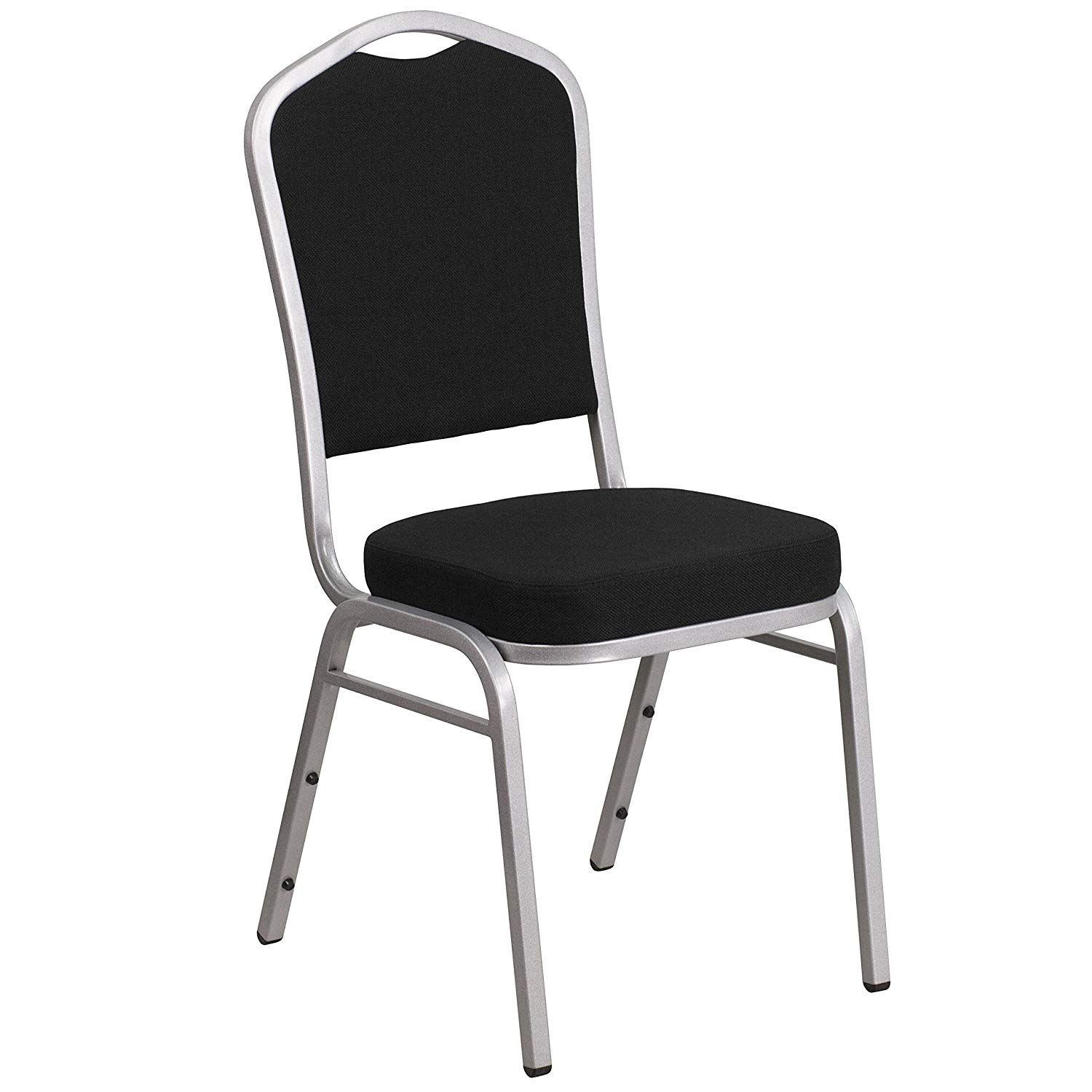 # 37- CROWN BACK BANQUET CHAIR WITH BLACK FABRIC
