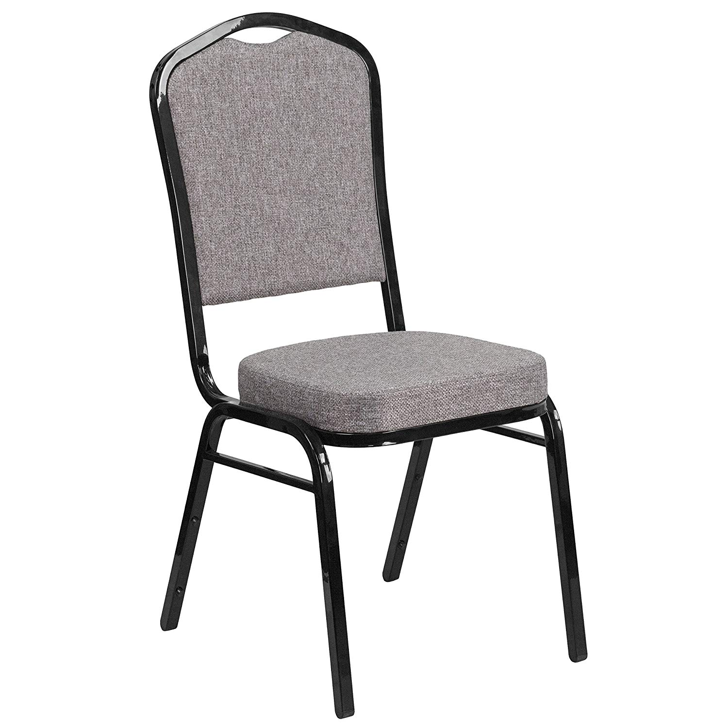 #40 - CROWN BACK BANQUET CHAIR WITH GRAY FABRIC