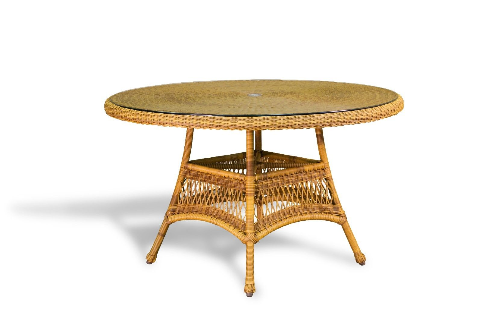 "#115 - 48"" Round Resin Wicker Dinning Table - Outdoor Patio Furniture - Color Choice"