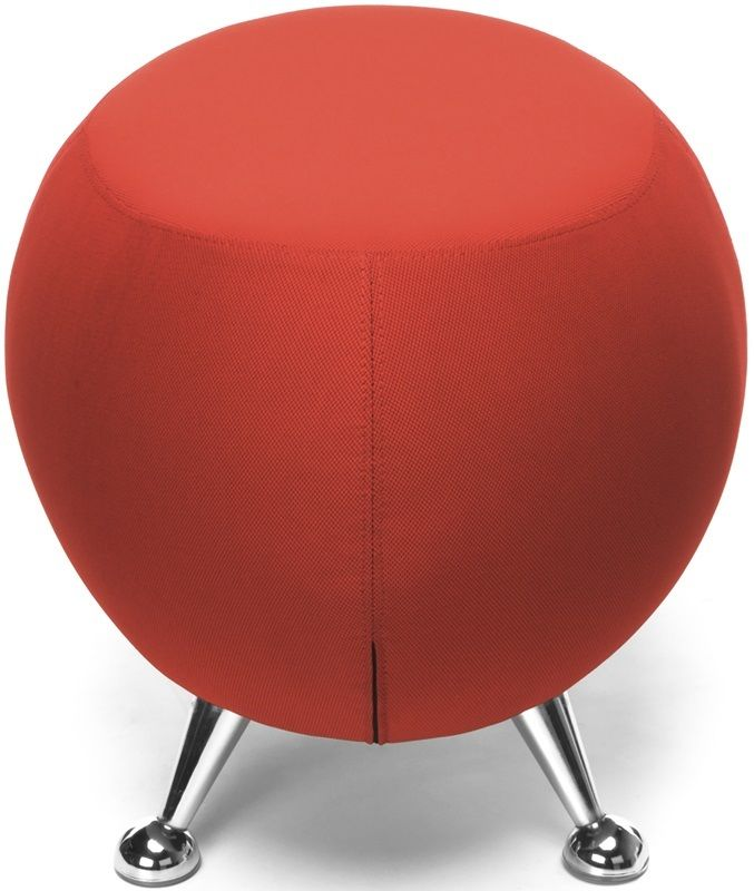 #175 - Contemporary Modern Office or Reception Lounge Stool in Red