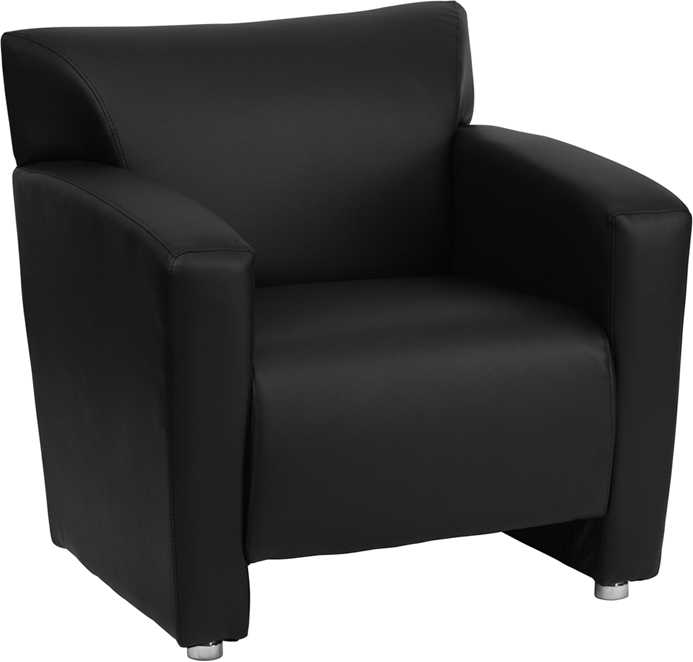 #81 - MAJESTY SERIES BLACK LEATHER CHAIR
