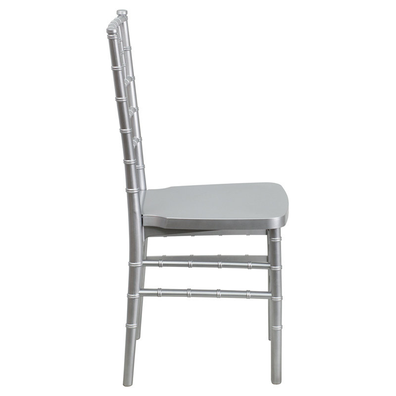 #4 - Silver Resin Stacking Chiavari Chair - FREE SEAT CUSHION