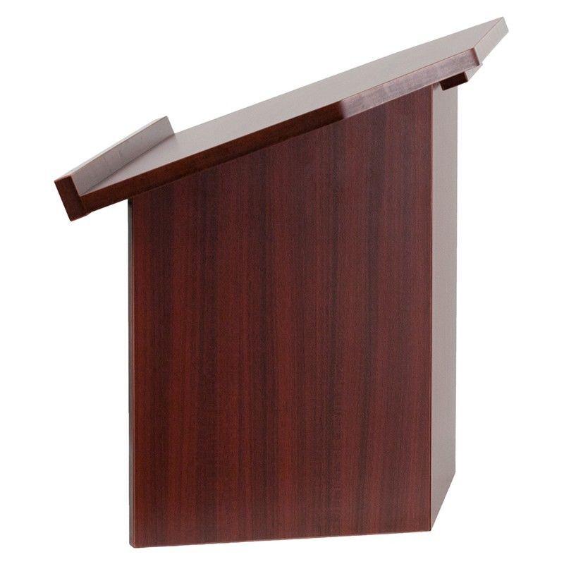 #4 - Foldable Mahogany Tabletop Lectern - Church Podium - School Lectern