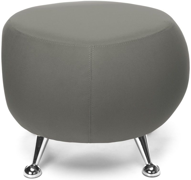 #176 - Contemporary Modern Office or Reception Lounge Stool in Gray