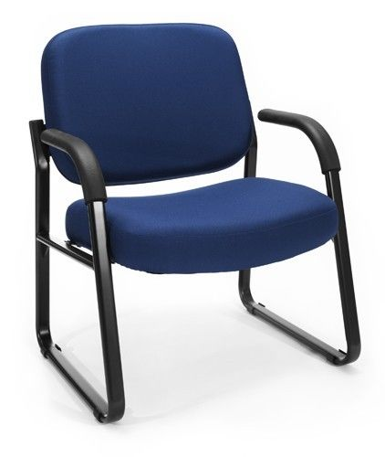 #89 - Big & Tall 400Lbs Capacity Guest Chair Reception Chair in Blue